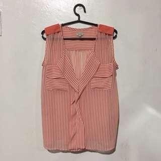 Peach Stripes Blouse
