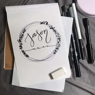 Live Calligraphy Hand Lettering Party event