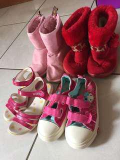 🚚 二手童鞋4雙共$200