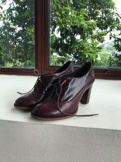 Maroon shoes from Clarks