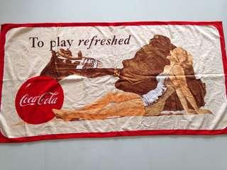 Coca-Cola Towel 1992 Design Bath Beach Towel - Play Refreshed