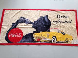 Coca Cola Towel 1992 Design Bath Beach Towel - Drive Refreshed