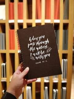 Black Muji Notebook Calligraphy