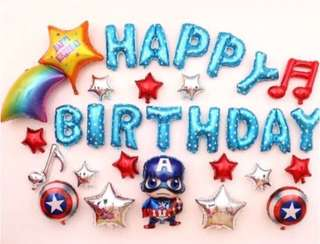 <In-stock> Happy Birthday Decoration - Captain America B