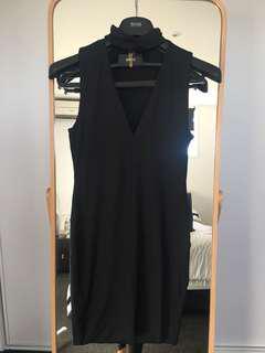 Kookai black choker dress