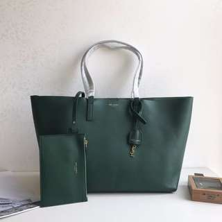 ysl 購物袋 進口南非皮 可拆卸拉鏈袋 超大空間 。size37×28×13cm