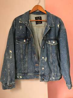 Pull & Bear Oversized Denim Jacket