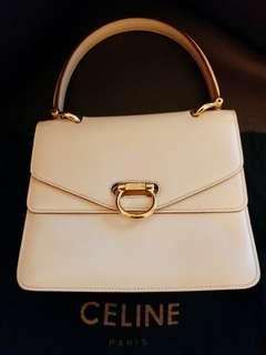 Celine Calfskin Leather Handbag Vintage 中古