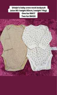 Uniqlo Baby Crew Neck Bodysuit