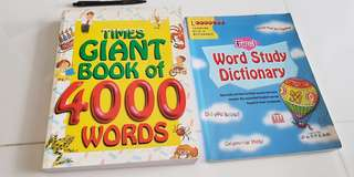2pcs children dictionary n 4000 wordbook