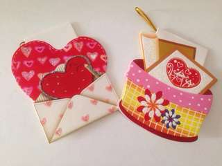 🚚 Love/ valentine hearts couples friends small card