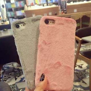 iPhone 8 plus/ iPhone 7 Plus hard fluffy furry phone case