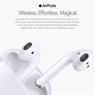 Brand New Sealed in Box * Apple Airpods * Direct from Distributor * International Warranty
