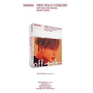 [Pre-order] TAEMIN 태민 1ST SOLO CONCERT [OFF-SICK< ON TRACK >] KIHNO VIDEO 키노 비디오 (1 DISC)