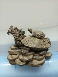 銅製龍龟(摆風水佳品)