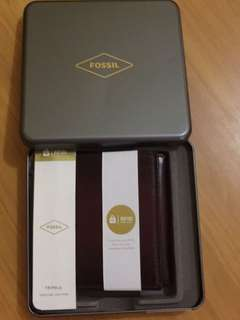 FOSSIL MEN WALLET PAUL TRIFOLD CORDOVAN