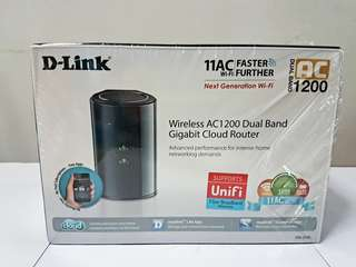 D-Link Wi-Fi Router - Wireless AC1200 Dual Band Gigabit Cloud Router