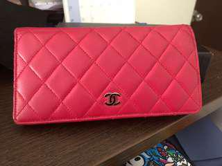 Chanel Yen wallet in hot pink!