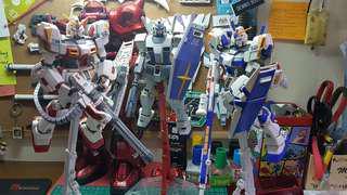 Gundam G03, G04, G05 assembled mg