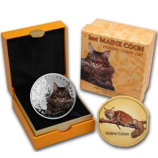Niue Maine Coon Cat Silver Coin