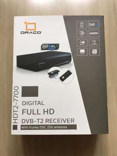 DRACO DVB-T2 box with Antenna (Funkee DSC 250)
