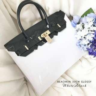 Beachkin Glossy White Black