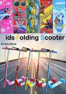 KIDS FOLDING SCOOTER ( FULL SPEC ) with brake, bell, suspension  Rm60 sem  Pm Wasap 0176725125