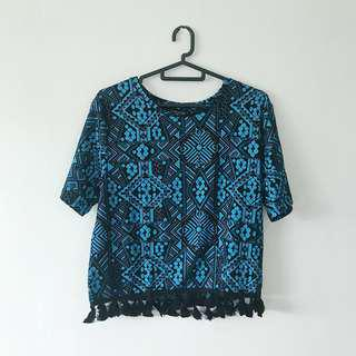SALE | Topshop Tribal Top