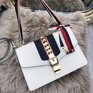 Gucci Sylvie 特價 真皮 手袋