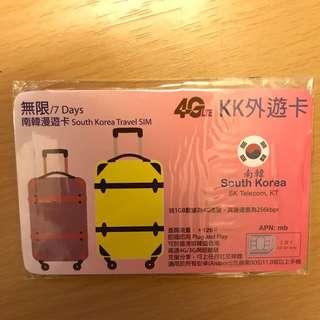 無限/7Days 南韓漫遊卡 South Korea Travel Sim