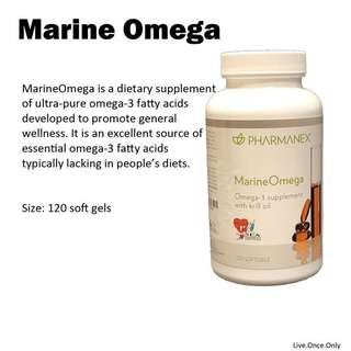 Marine omega krill oil