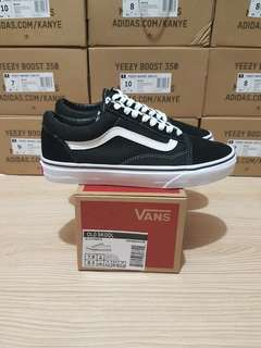 Vans oldskool old skool black white bw original 100%