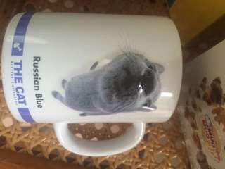 大頭Russian blue cat 杯