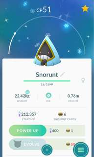 Pokemon go shiny snorunt