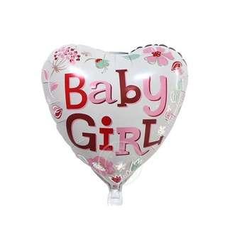 Baby Girl Heart Balloon 18