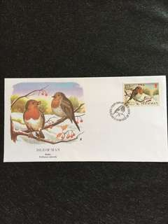 Isle of Man 1988 Robin FDC stamp