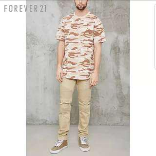 🚚 PO BNWT Forever21 Oversized Camo Tee