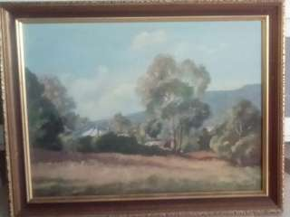 Antique Painting by M Hawkins(1881 - 1956). This painting was given to the Tan family from Royal family of Scotland resides Ferndale gully Melbourne Australia written at the back of the painting