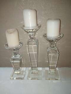 Crystal Candle Holder (set of 3)