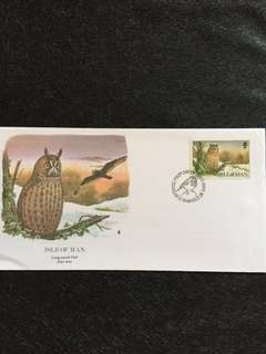 Isle of Man 1988 Owl FDC stamp