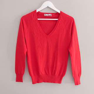 Free Ongkir New Zara Red Sweater