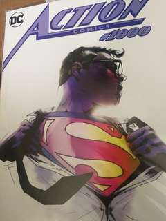 Action Comics #1000, Jock cover, KRS comics/ Fobbiden Planets exclusive.