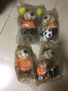 All 5 for $10- Brand new A&W bear stuff toy collectibles