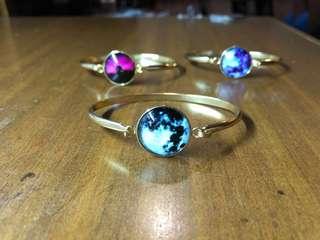 Glow in the Dark Moon Bracelets