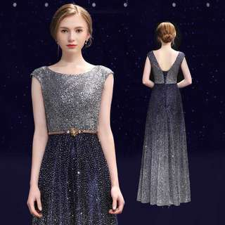 Luxury Galaxy Evening Gown