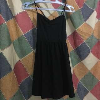 Black Mini Strap Dress