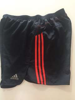 Men's adidas climalite black and red shorts