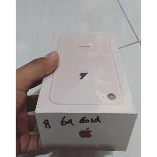 iPhone 8 Gold 64 GB BARU, BELUM DIBUKA GAES. MASIH GRES.