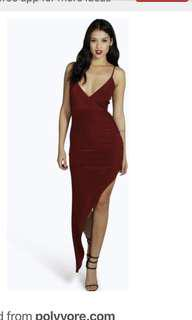 [RENT] Red Formal Asymmetric Dress