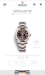Rolex Datejust 31 Everose with Diamond